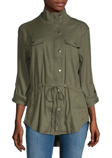 Not Your Daughter's Jeans Linen-Blend Tab-Sleeve Anorak