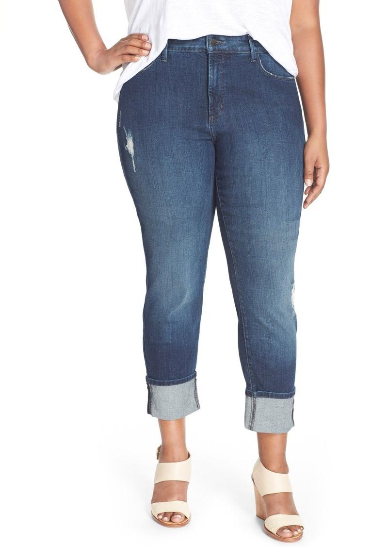 NYDJ 'Loreena' Distressed Stretch Boyfriend Jeans (Redding) (Plus Size)
