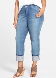 Not Your Daughter's Jeans NYDJ Loreena Stretch Roll Cuff Crop Boyfriend Jeans (Heyburn) (Plus Size)