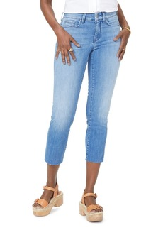 NYDJ Marilyn Raw-Hem Cropped Ankle Jeans in Capitola