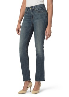 Not Your Daughter's Jeans NYDJ Marilyn Raw Hem Stretch Ankle Straight Leg Jeans (Desert Gold)