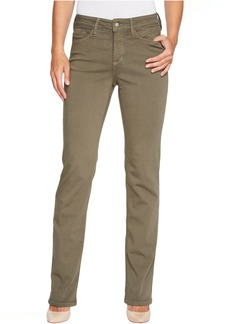 NYDJ Marilyn Straight Jeans in Luxury Touch Denim in Fatigue