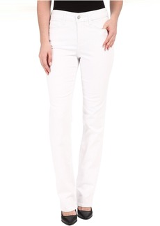NYDJ Marilyn Straight Jeans in Optic White