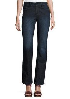 NYDJ Marilyn Straight-Leg Beaded-Pocket Jeans
