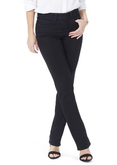 NYDJ Marilyn Straight Leg Black Jeans