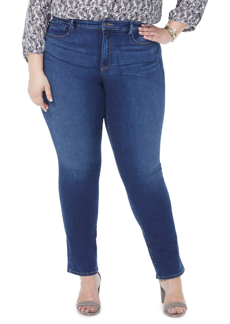 c61e65f4e8c NYDJ NYDJ Marilyn Straight Leg Jeans (Clean Muir) (Plus Size)