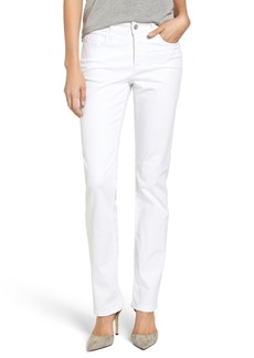 Not Your Daughter's Jeans NYDJ Marilyn Stretch Straight Leg Jeans (Optic White)