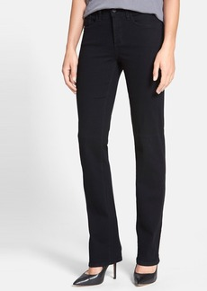 Not Your Daughter's Jeans NYDJ 'Marilyn' Stretch Straight Leg Jeans (Black) (Regular & Petite)