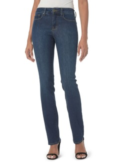 NYDJ Marilyn High Waist Stretch Straight Leg Jeans (Cooper) (Regular & Petite)