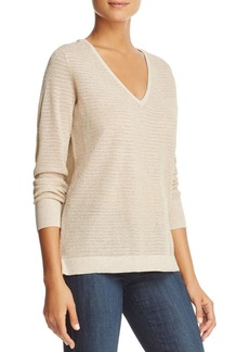 Not Your Daughter's Jeans NYDJ Metallic Double V-Neck Sweater