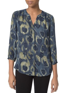 Not Your Daughter's Jeans NYDJ Notched-Neck Printed Blouse