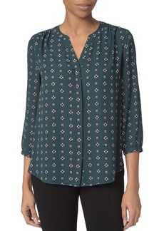 Not Your Daughter's Jeans NYDJ Notched-Neck Scarf Print Blouse