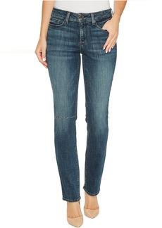 NYDJ Parker Slim Jeans w/ Knee Slit in Crosshatch Denim in Desert Gold