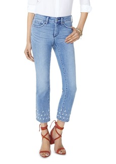 NYDJ Sheri Slim Ankle Palm Dot Jeans in Point Dume