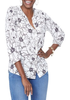 Not Your Daughter's Jeans NYDJ Pleat Back Blouse