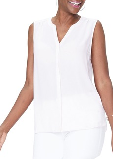 Not Your Daughter's Jeans NYDJ Pleat Back Sleeveless Split Neck Blouse (Regular & Petite) (Nordstrom Exclusive)