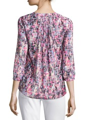 Not Your Daughter's Jeans NYDJ Pleated-Back Chiffon Blouse