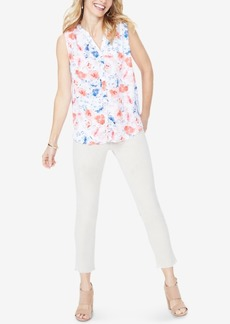 Not Your Daughter's Jeans Nydj Pleated Printed Blouse