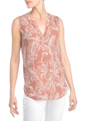 Not Your Daughter's Jeans NYDJ Print Pleat Back Sleeveless Split Neck Blouse (Regular & Petite) (Nordstrom Exclusive)