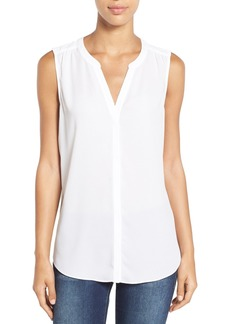 Not Your Daughter's Jeans NYDJ Pleat Back Sleeveless Split Neck Blouse (Regular & Petite) (Nordstrom Exclusive)