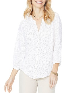 Not Your Daughter's Jeans NYDJ Printed Pintuck-Back Blouse