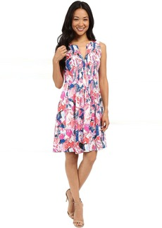NYDJ Printed Rayon Voil Shirt Dress