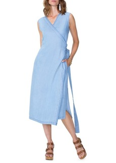 Not Your Daughter's Jeans NYDJ Released Hem Chambray Wrap Dress