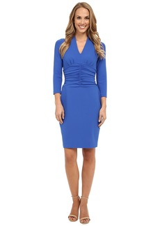 NYDJ Ruched Side Stretch Crepe Dress