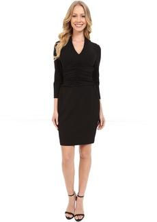 Not Your Daughter's Jeans NYDJ Ruched Side Stretch Crepe Dress