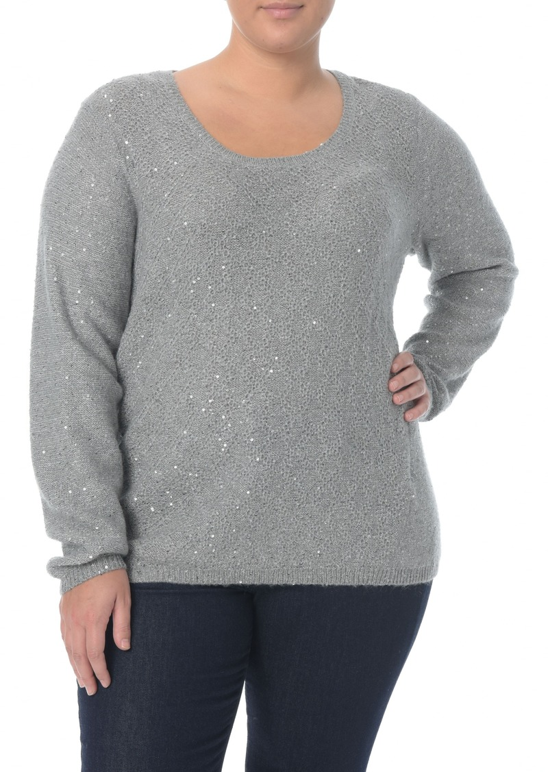 536f855d NYDJ NYDJ Sequin Scoop Neck Sweater (Plus Size) | Sweaters