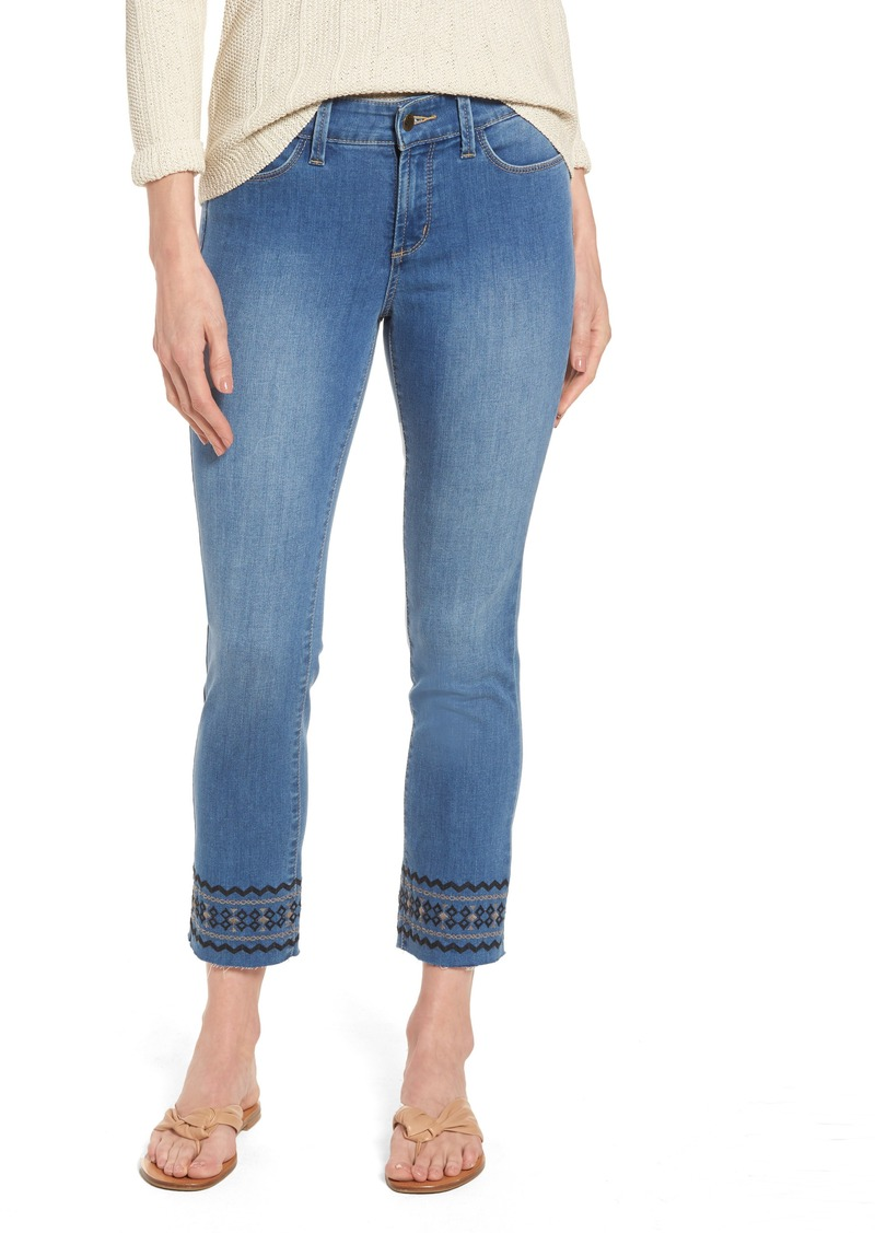 not your daughter 39 s jeans nydj sheri embroidered stretch. Black Bedroom Furniture Sets. Home Design Ideas
