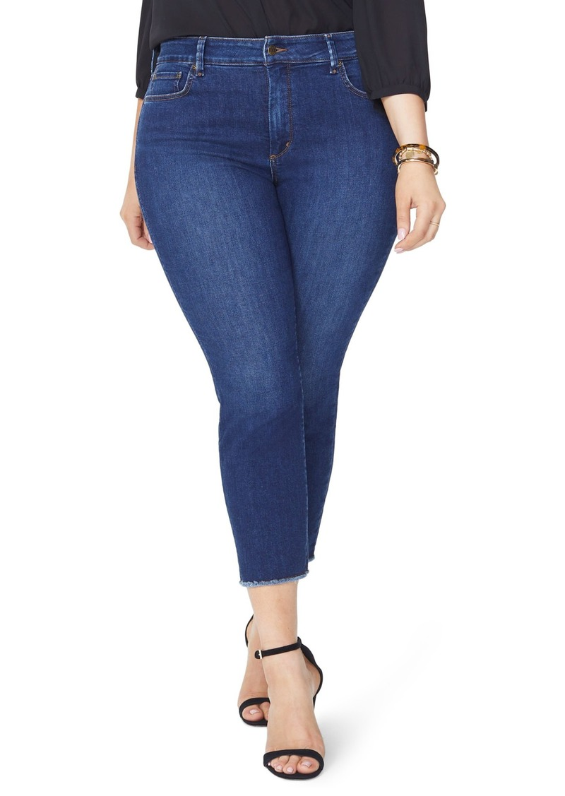2064f1396f3 NYDJ NYDJ Sheri Fray Hem Stretch Slim Ankle Jeans (Cooper) (Plus ...