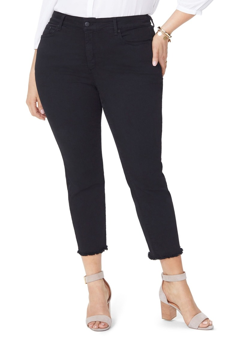 99d2d75d0e2 Not Your Daughter s Jeans NYDJ Sheri Fray Hem Stretch Slim Ankle Jeans (Plus  Size)
