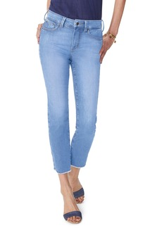 Not Your Daughter's Jeans NYDJ Sheri High Waist Frayed Hem Slim Ankle Jeans (Pampelonne) (Regular & Petite)