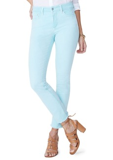 NYDJ Sheri High Waist Frayed Hem Stretch Slim Ankle Jeans (Regular & Petite)
