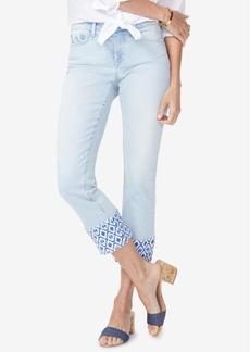 Not Your Daughter's Jeans Nydj Sheri Printed-Hem Ankle Skinny Jeans