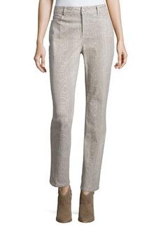 Not Your Daughter's Jeans NYDJ Sheri Python-Print Skinny Pants