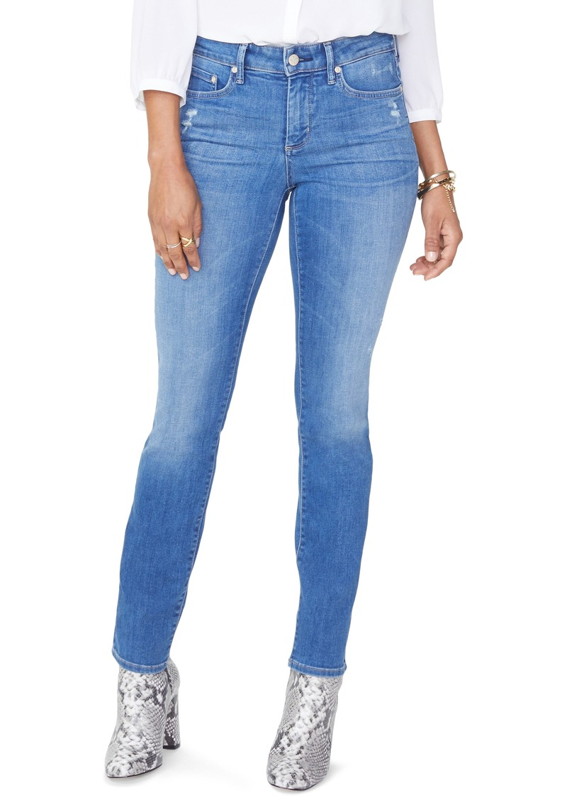 346e4323db NYDJ NYDJ Sheri High Waist Ripped Slim Stretch Ankle Jeans (Burton ...