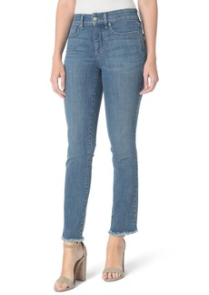 Not Your Daughter's Jeans NYDJ Sheri Slim Fray Hem Ankle Jeans (Maxwell) (Regular & Petite)