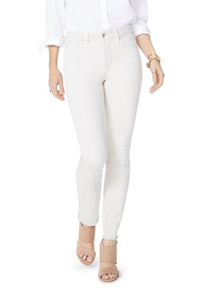 Not Your Daughter's Jeans NYDJ Petites Sheri Frayed-Hem Slim Ankle Jeans in Feather