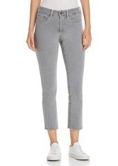 NYDJ Petites Sheri Slim Frayed Ankle Jeans in Miner Pigment
