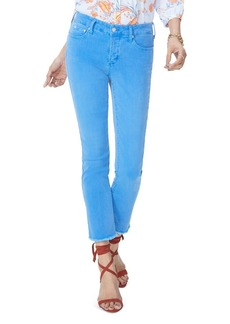 NYDJ Sheri Slim Frayed Ankle Jeans in Wave