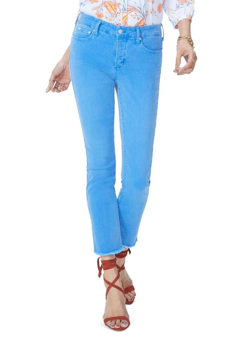 NYDJ Sheri Slim Frayed Ankle Jeans in Wave