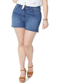 Not Your Daughter's Jeans NYDJ Side Slit Fray Hem Denim Shorts (Zimbali) (Plus Size)