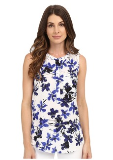 Not Your Daughter's Jeans NYDJ Sleeveless Georgette Blouse w/ Pleated Back