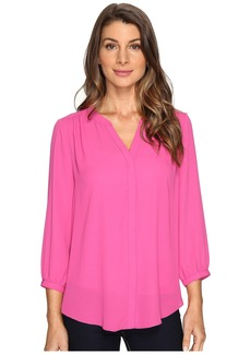 Not Your Daughter's Jeans NYDJ Solid Blouse w/ Pleated Back