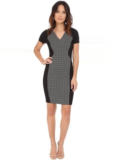 Sonya Grid Jacquard Dress