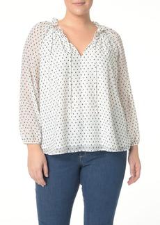 NYDJ Stella Clip Jacquard Blouse (Plus Size)