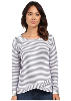 NYDJ Stripe French Terry Sweatshirt