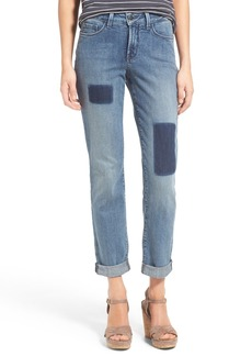 Not Your Daughter's Jeans NYDJ 'Sylvia' Patch Detail Stretch Relaxed Boyfriend Jeans (Montebello)